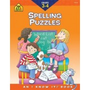Spelling Puzzles Grades 3 and 4-Workbook by School Zone Publishing