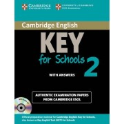 Cambridge English Key for Schools 2 Self-study Pack (student's Book with Answers and Audio CD) by Cambridge ESOL