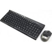 Kit tastatura cu mouse wireless E-Blue Niveau-EX Negru