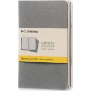Moleskine Pebble Grey Squared Cahier Pocket Journal by Moleskine