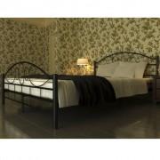 vidaXL Метално легло, черно, 140 х 200 см.