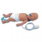 manichino neonato per rianimazione con simulatore ecg
