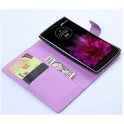 LG G flex 2 Case Customized Leather Folio Stand Protective Wallet Case Cover For LG G flex 2 (Wallet Purple)