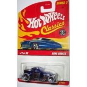 Hot Wheels Classics Series 3 Bone Shaker #1 of 30 Metallic Blue with 5 Spoke Wheels by Hot Wheels