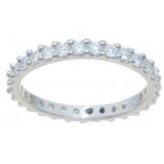 Platinum Plated 925 Sterling Silver Cubic Zirconia CZ Wedding Ba
