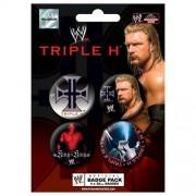 Pyramid - 41003 - WWE Set de 4 badges - Triphe H