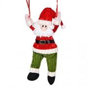 Personalizado ornamentos de navidad regalos de Santa Claus mini paracaídas muñeca de Navidad para los niños decoraciones de Navidad para Home Xagoo (3)