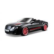 Bburago 18-11035 - Bentley Continental Supersports ISR Modellino, Convertibile, Scala 1:18, Colori Assortiti: Bianco/Nero