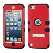 Funda Protector Triple Layer Apple Ipod Touch 5G / 6G Naranja -2 / Negro c/pie metalico