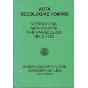 International Monographs In Human Ecology N° 2 1993