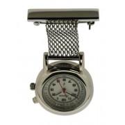 Lasita LA-88-2045-10 heren verpleegsterhorloge / -klok Staal Zilver