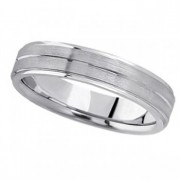 Carved Wedding Band in Palladium For Men (5mm)