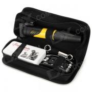 Bicycle Repair Tools Combination Kit w/ Air Pump - Black + Yellow