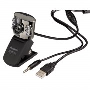 КАМЕРА WEBCAM METAL PRO С МИКРОФОН, LED ДИОДИ - HAMA-62828