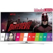 "Televizor Super UHD LG 139 cm (55"") 55UH8507, Ultra HD 4K, Smart TV, 3D, HDR, TruMotion 200HZ, webOS 3.0, WiFi, CI+ + Lantisor cu pandativ (Placat cu aur) + SIM Orange PrePay, 8 GB internet 4G, 5 euro credit"