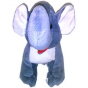 Lu Gift Collection Kids Toy Fiber Grey Standing Elephant
