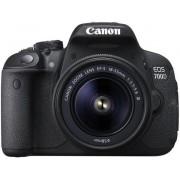 Aparat Foto D-SLR Canon EOS 700D cu Obiectiv EF-S 18 - 55 DC STM, Senzor CMOS, 18 MP, Filmare Full HD (Negru)