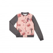 Review for Teens Bomber aus Sweat mit floralem Muster