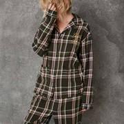 River Island Green Ashish check pyjama shirt