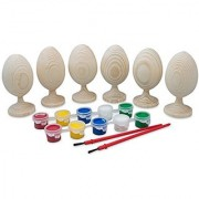 3.5 Paint your Own Set of 6 Blank Unfinished Wooden Eggs