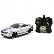 Jada Toys BTM Radio Control Vehicles 2015 Mustang GT Vehicle 7.5 Silver with Blue Stripes