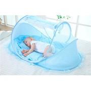 Instant portátil transpirable viaje tienda de campaña para bebés, playa Play tienda de campaña, cama parque de juegos - Keep de insectos y mosquitos aire - y espacio suficiente para bebés azul