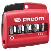 """Jeu mixte de 10 Embouts vissage Torx Plus 1/4"""" série 1 - 25mm + porte embout Facom E.116"""