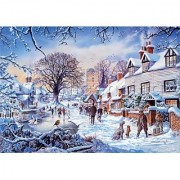 Steve Crisp A Village in Winter 1500 Piece Puzzle