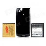 Remplacement 3500mAh / 2430mAh Li-ion + noir dos cas pour Sony Ericsson Xperia Arc LT15i