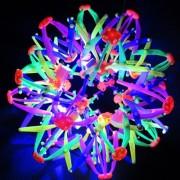 Magic Ball - Balle Magique Ballon - Passe De 15 À 30 Cm Flexible - Jouet Enfant Fluo Tendance - S'ouvre Et Se Ferme À Chaque Lancé - Fleur - Idée Cadeau