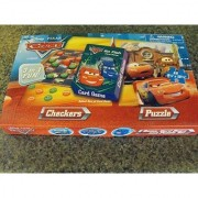 Disneys Cars Rummy Card Game Checkers and 48 Piece Puzzle