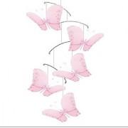 Bugs-n-Blooms Butterfly Mobile Pink Twinkle Nylon Mesh Butterflies Mobiles Decorations Decorate Baby Nursery Bedroom Gir