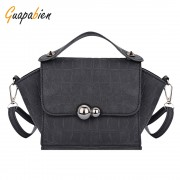 Guapabien Women Small Bags Trapeze Mini Handbag Rivet Leather Shoulder Bag Ladies Evening Party Tote Bag Crossbody Satchel