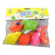 6 Pcs Cute Kids Bath Toys Fish Toddler Girl Water Toys Wind Up Animal Clockwork Baby Doll