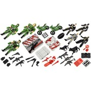 Freedom Forces of Justice Deluxe 55 Pcs. Childrens Kids Toy Action Figure Play Set w/ Variety of Army Figures & Accessories