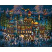 Santas Workshop - 500pc Jigsaw Puzzle By Dowdle Folk Art