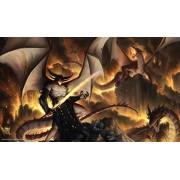 Artistas de Magic Premium Playmats: DRAGONLORD SINN autografiado por el artista TYLER WALPOLE