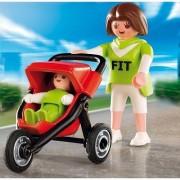 Playmobil - 4697 - Jeu De Construction - Maman Avec Bébé Et Poussette
