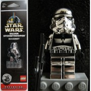 Lego Star Wars Silver Stormtrooper Magnet Mini Figure Anniversary Edition by LEGO
