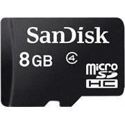 Sandisk 8GB MicroSD Card With Adapter