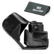 MegaGear Ever Ready Protective Leather Camera Case Bag for Canon Powershot SX540 HS SX530 HS (Black)