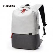 TUGUAN External USB Notebook Backpack Denim Design for Women 15.6'' Waterproof Laptop Backpack Men School Computer Bag