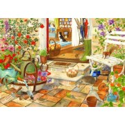 1000 Piece Jigsaw Puzzle. Home And Garden With Animals by The House of Puzzles