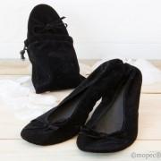Bailarina enrollable terciopelo negro Talla L
