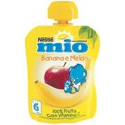 Mitac Frutta Grattugiata da Spremere Melabanana 100% Frutta senza Glutine da 6 Mesi, 90ml