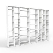 mycs MDF - bibliothèque moderne blanc - L 343 cm x H 252 cm x P 34 cm