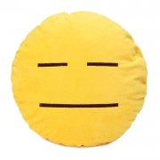Soft Smiley Emoticon Yellow Round Cushion Pillow Stuffed Plush Toy Doll (Not Talking)