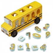 Melissa & Doug Number Matching Math Bus - Educational Toy With 10 Numbers 3 Math Symbols and 5 Double-Sided Cards