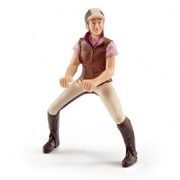 Figurina schleich calareata cu jacheta roz 42162