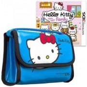 Hello Kitty Happy Happy Family Plus Carry Bag Blue Nintendo 3Ds
